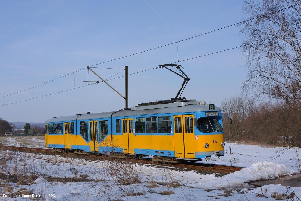 Waltershausen-Schnepfenthal, Tw 505, März 2013