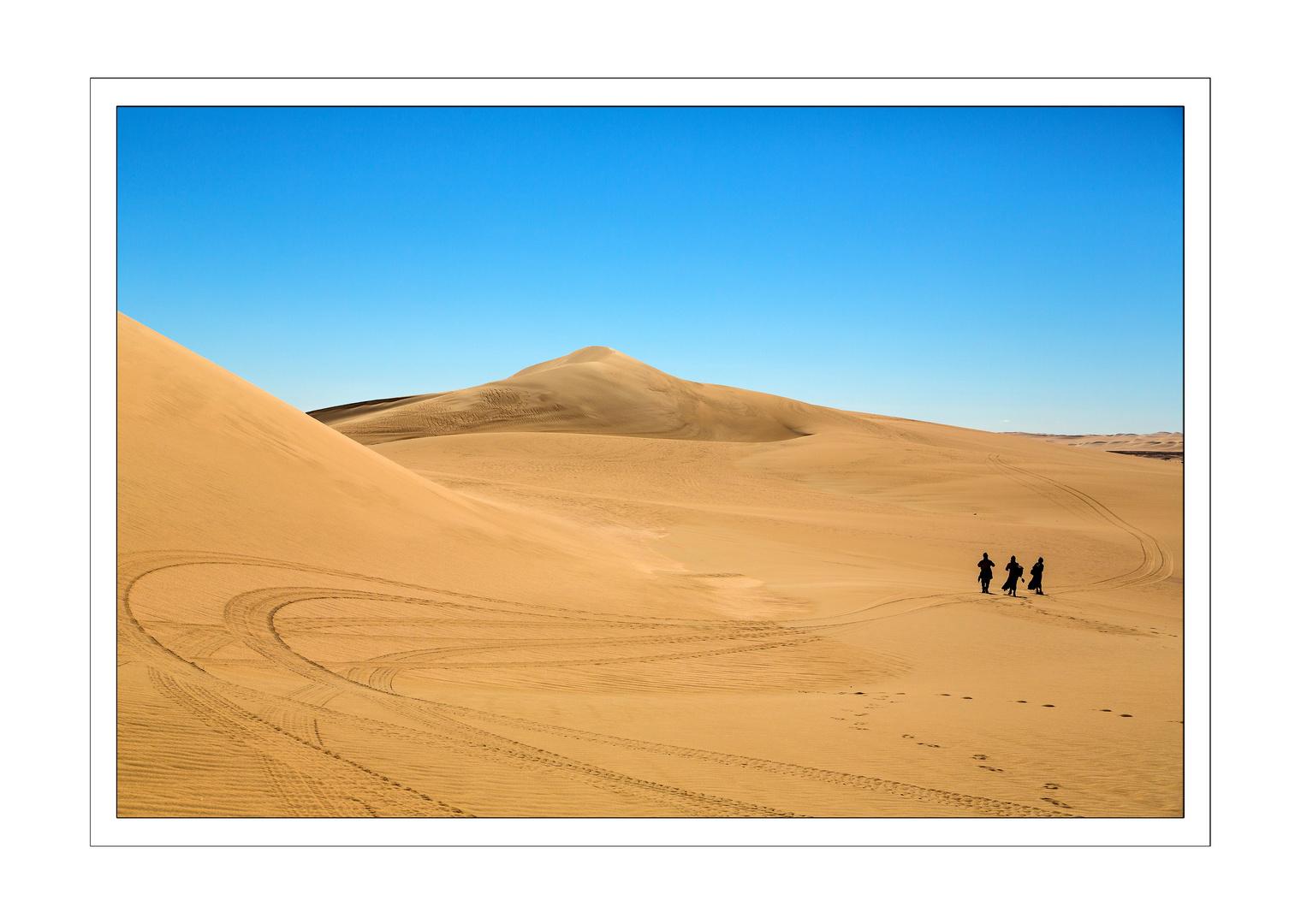 Wanderer in der Weissen Wüste