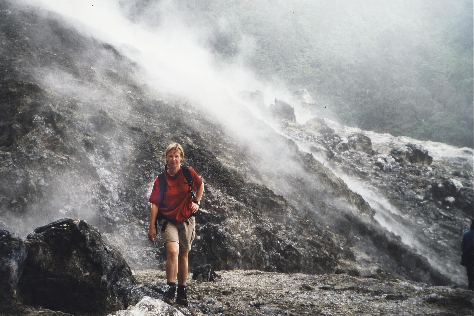 Wandern am Tangkuban Prahu