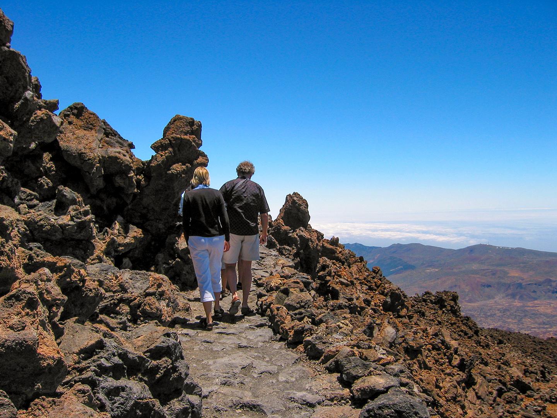 Wandern auf dem Vulkan