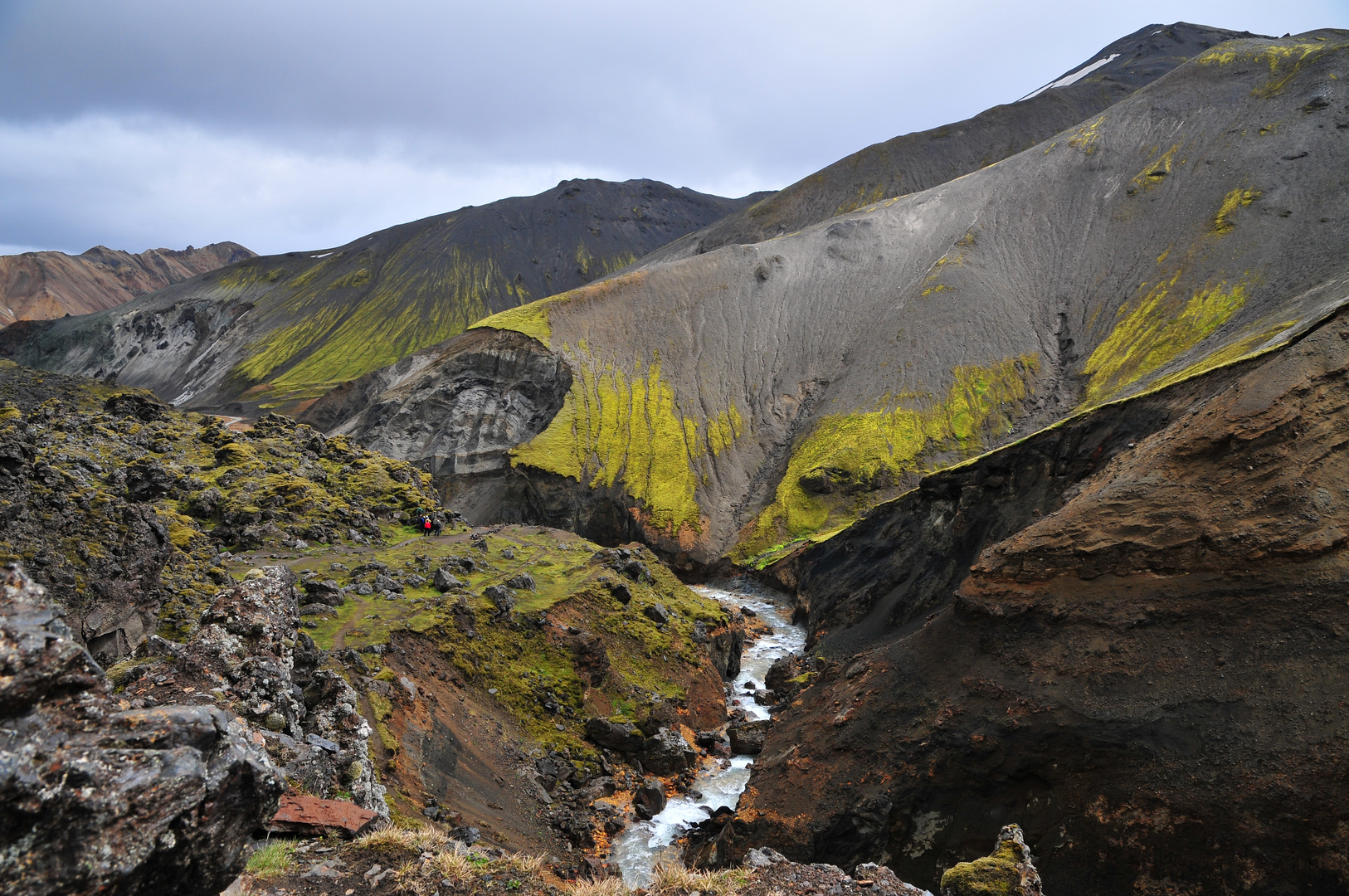 Wanderung durch das Lavagebiet Landmannalaugar/ Island