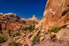 Wanderweg im Cohab Canyon, Capitol Reef National Park, Utah, USA