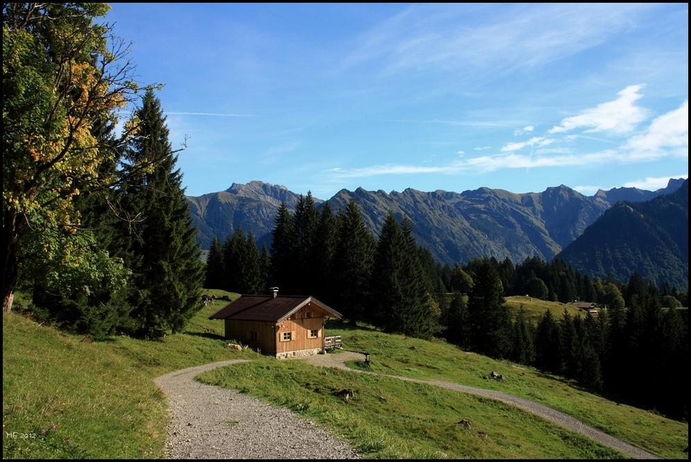 Wanderweg vom Söllereck nach Schwand (Allgäu)