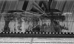 Wandfliesen in einer U-Bahnstation in Gelsenkirchen