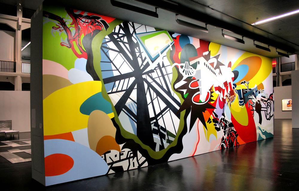 Wandfüllendes Gemälde im ZKM