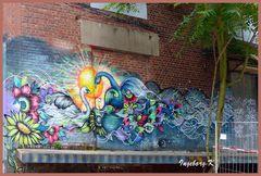 Wandverzierung mit Graffiti