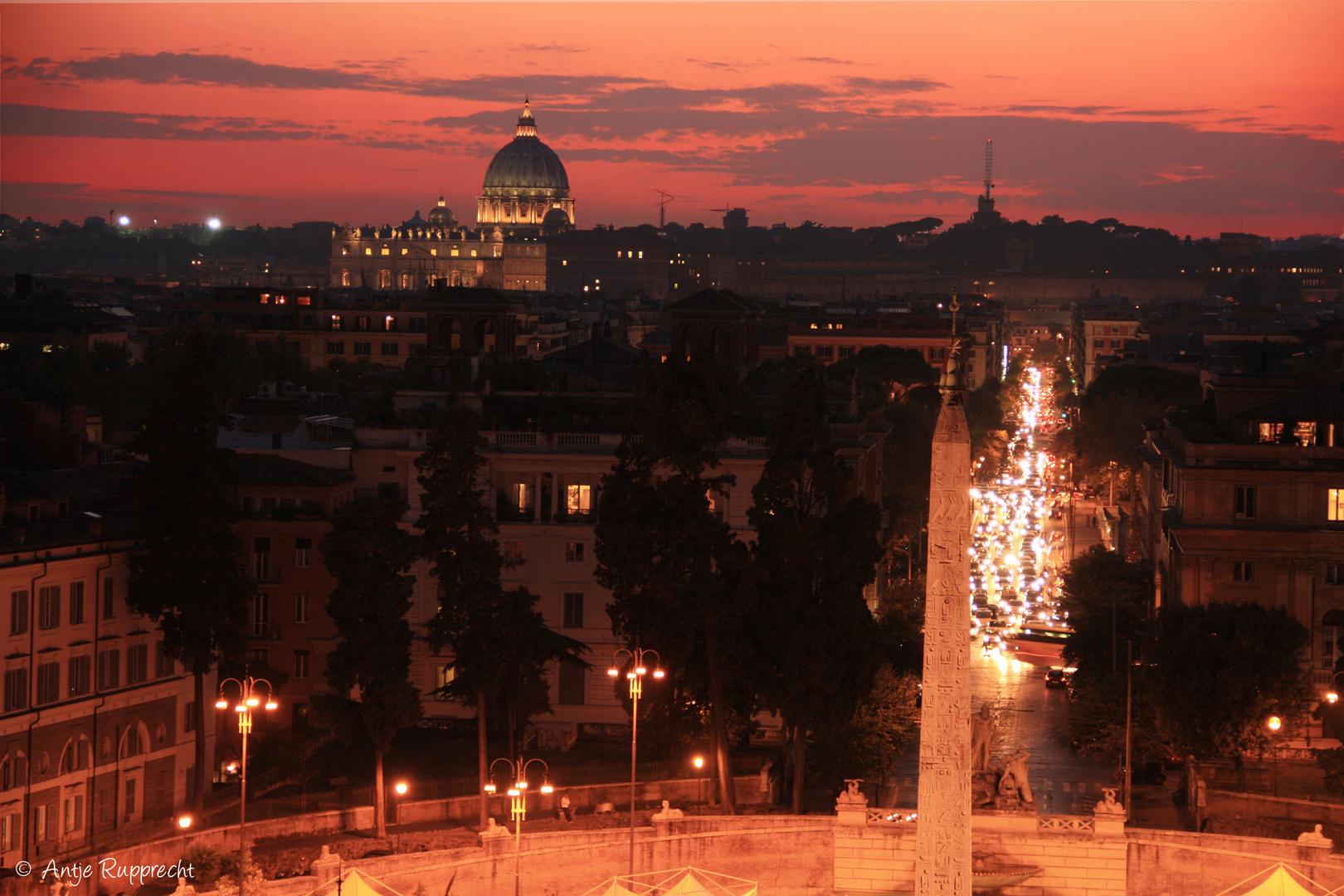 warmer Blick zum Petersdom