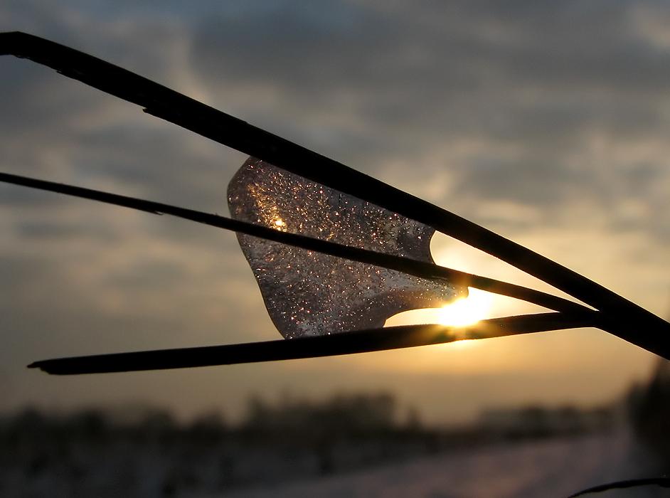Warmes Licht und kaltes Eis