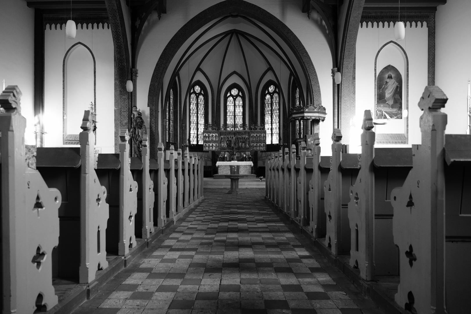 Warnemünde - inside the famous Protestant church
