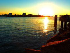 Warnemünde Sonnenuntergang Mole