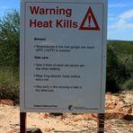 Warnung Hitze tötet!