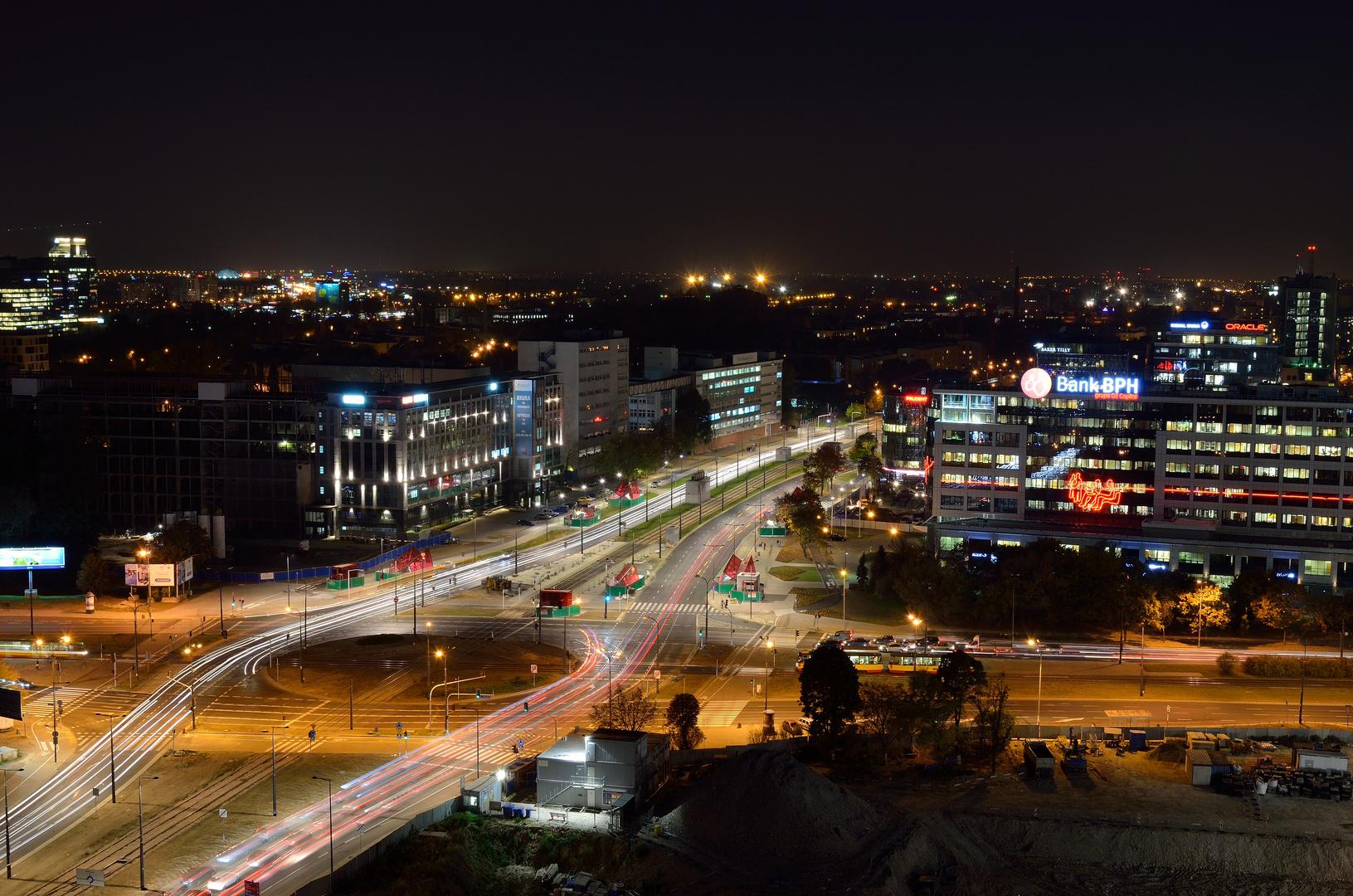 Warschau im Feierabendverkehr