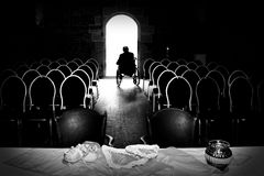 Warten auf die Braut