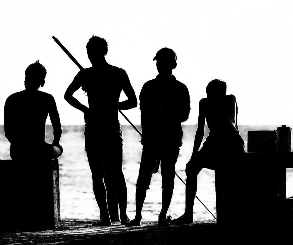 Warten auf Fische