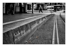 Warten aufs Tram