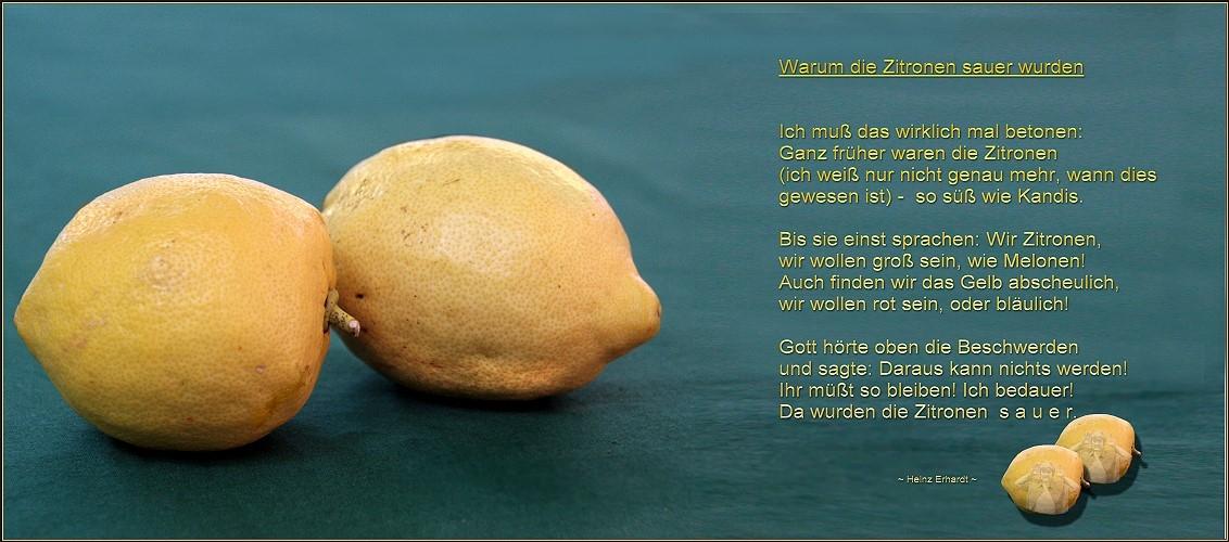 Heinz Erhardt Warum Die Zitronen Sauer Wurden Gedicht Von