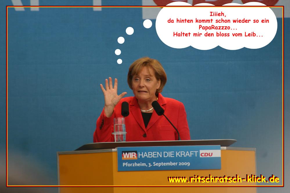 Was Angela Merkel in Pforzheim wirklich dachte... :o)