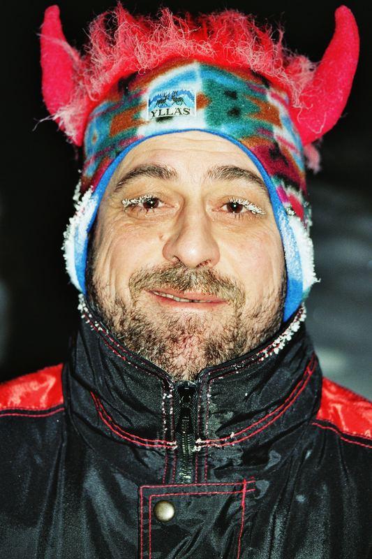 Was ist Kälte - finnisch Lappland bei - 28° C
