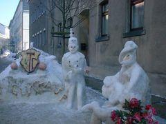 Was man in Eibenstock alles aus Schnee macht
