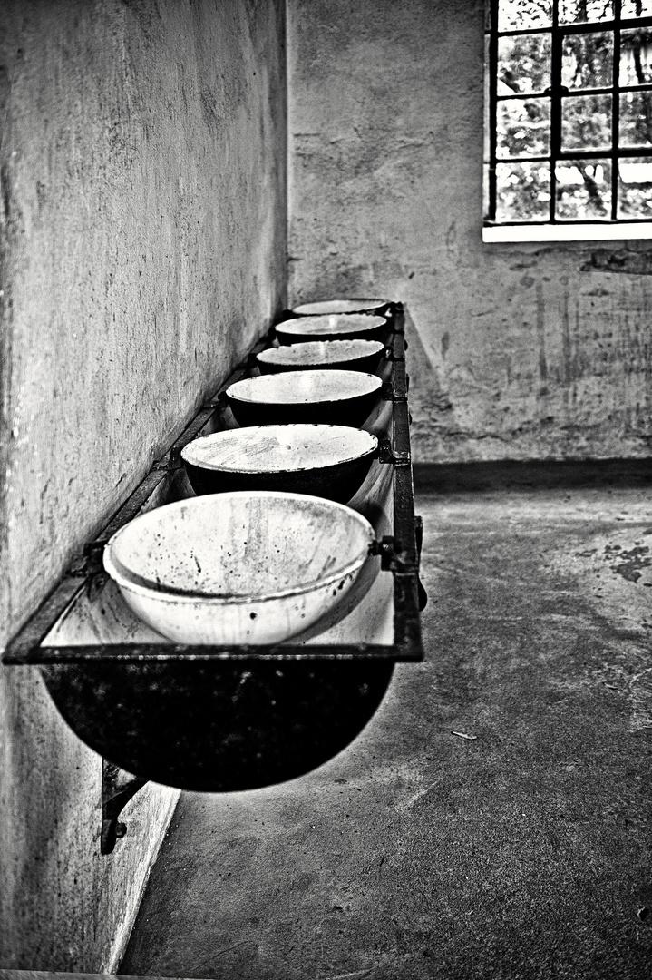 Waschen in Reih und Glied