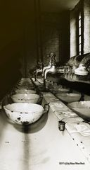 Waschkaue in einer alten Fabrik