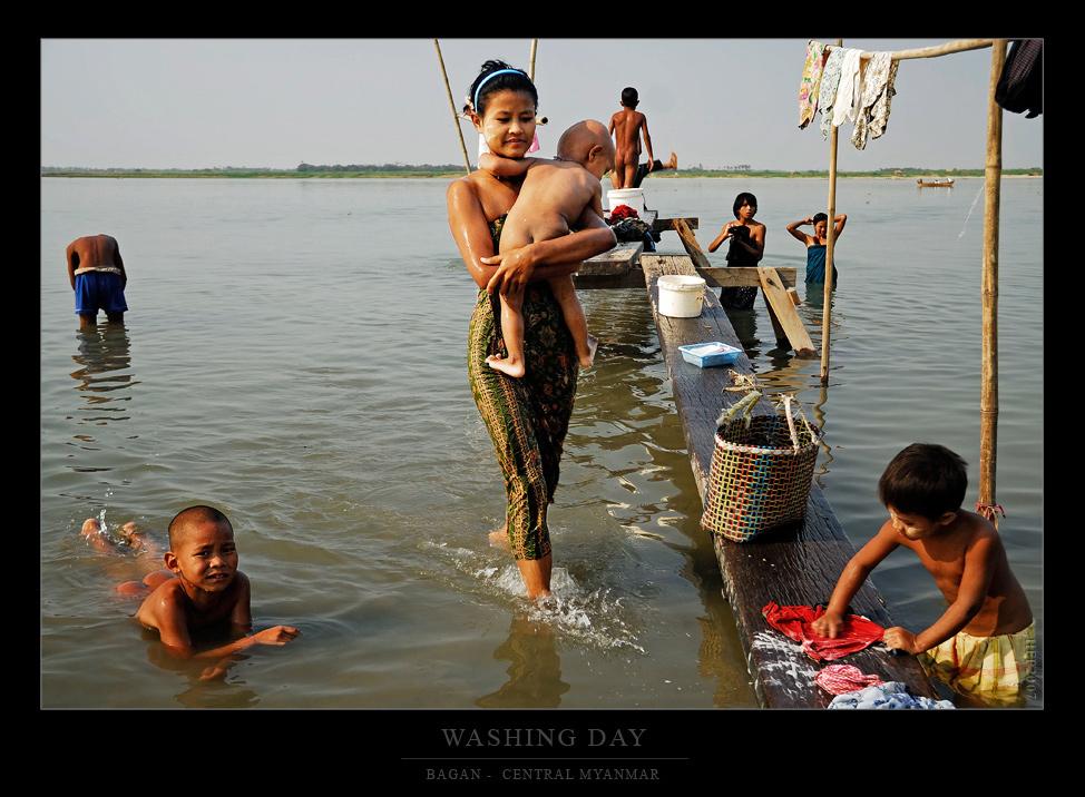 Waschtag an den Ufern Bagans...