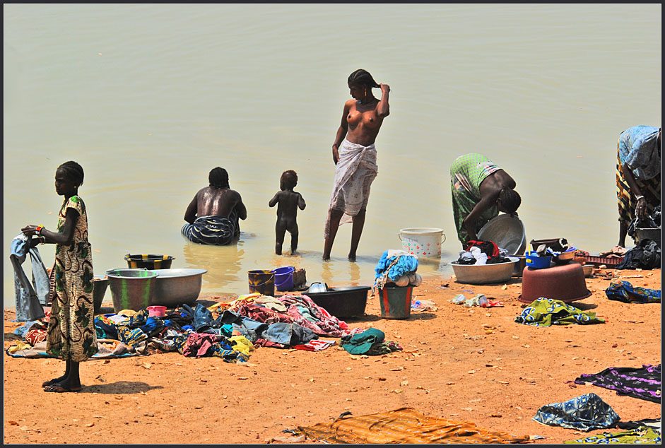 Waschtag in Mopti
