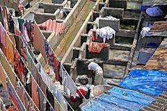 Waschtag in Mumbai