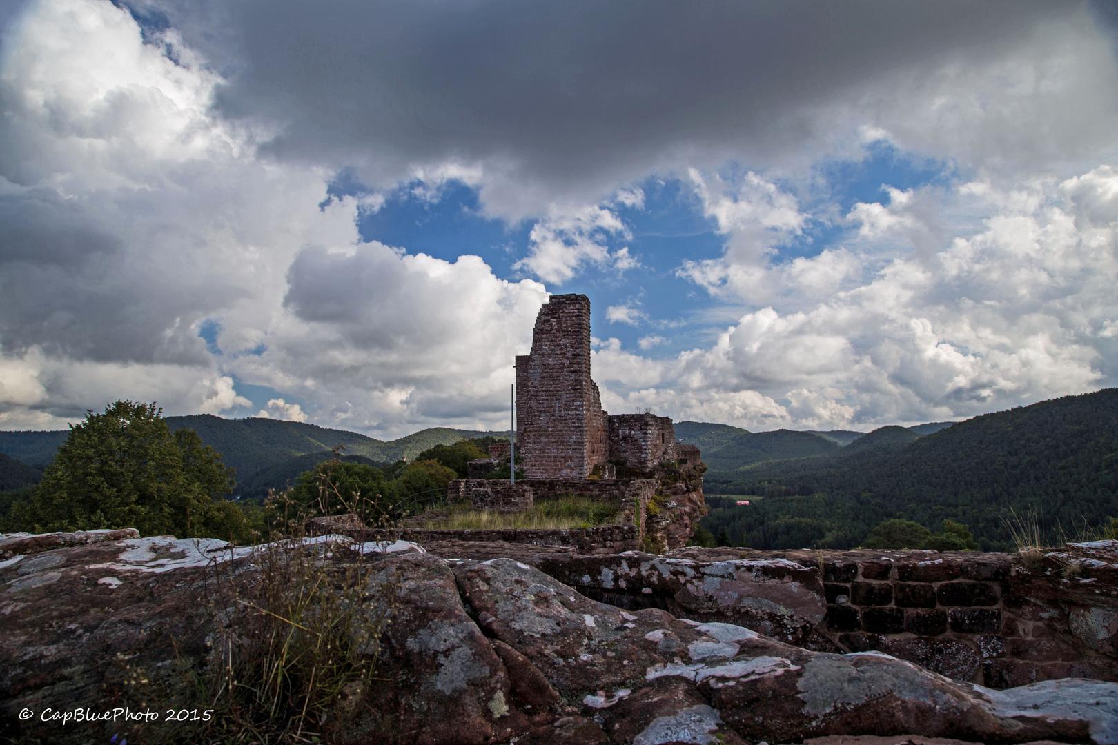 Wasgau Landschaft mit Burg Altdahn