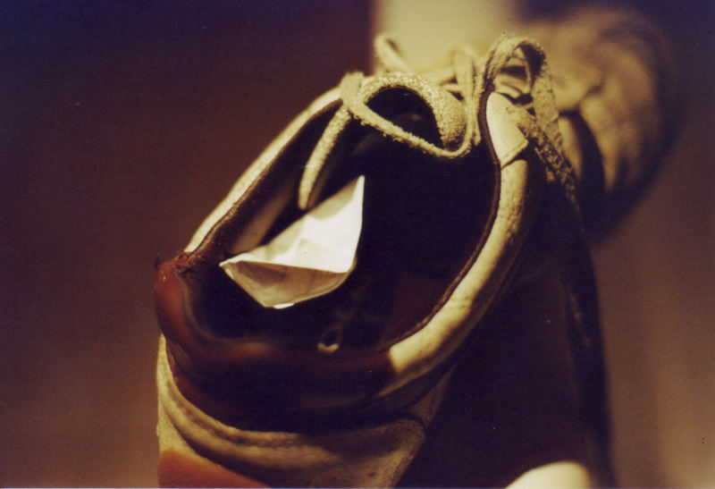 Wasser im Schuh
