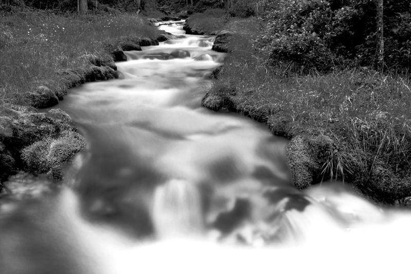 Wasser In Schwarz-Weiss Foto & Bild