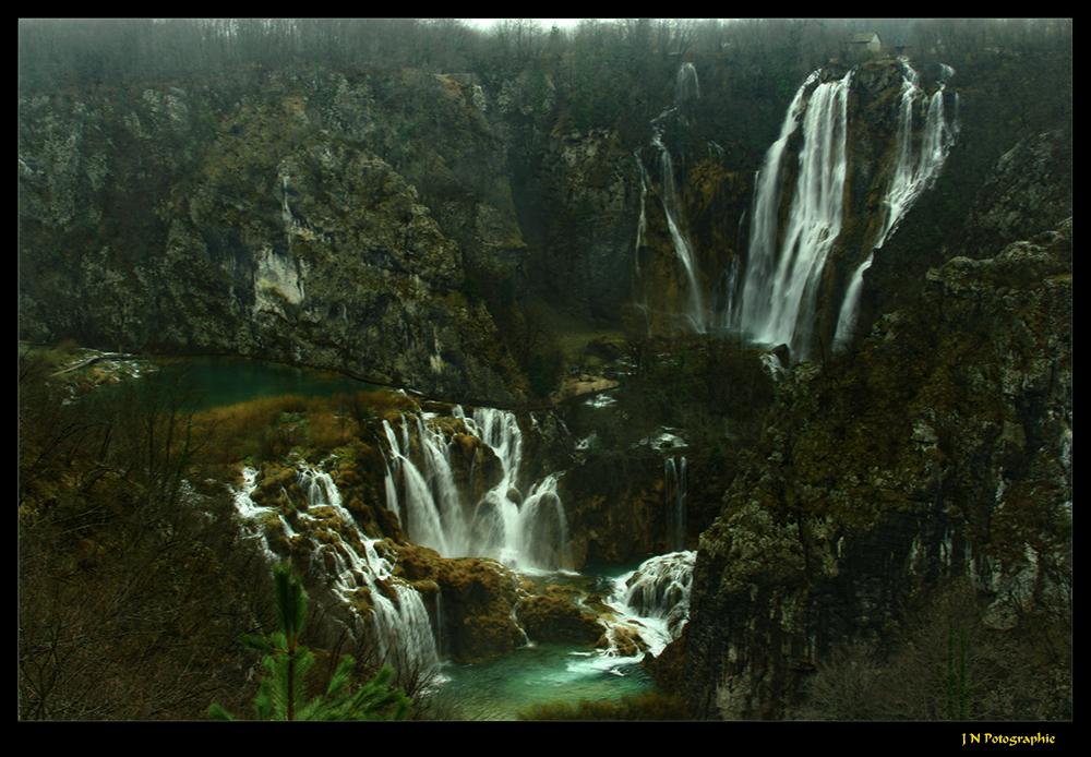 Wasserfälle an den Plitwitzer Seen