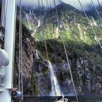Wasserfälle im Milford Sound