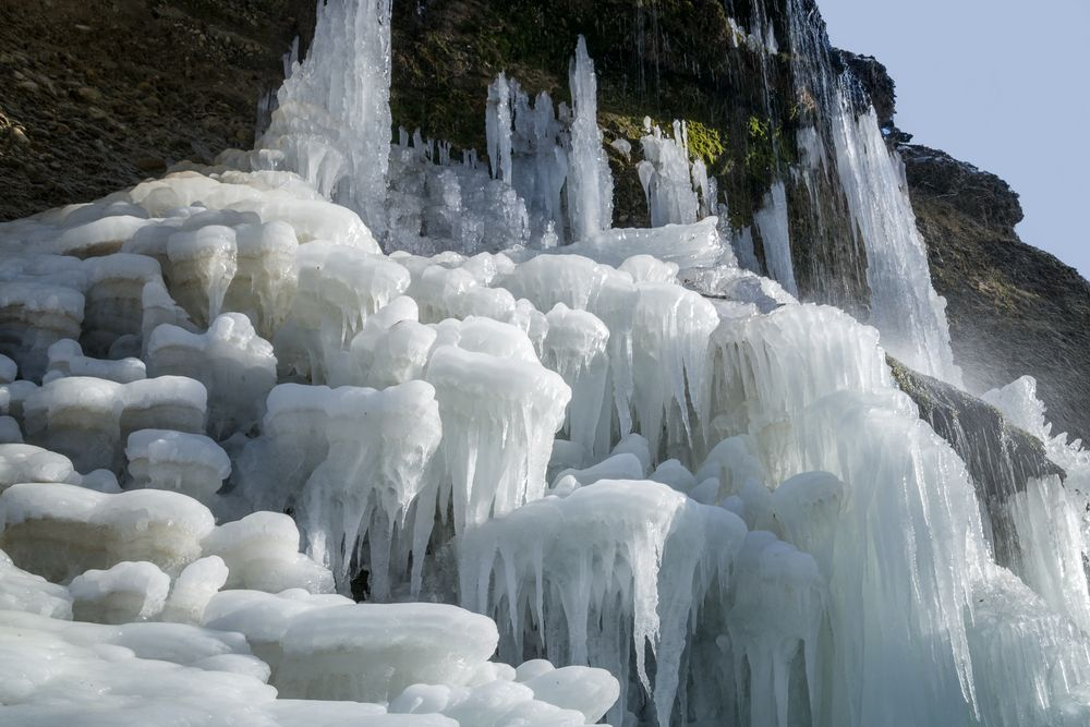 Wasserfall gefroren