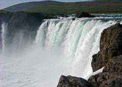 Wasserfall  Godafoss  in Island