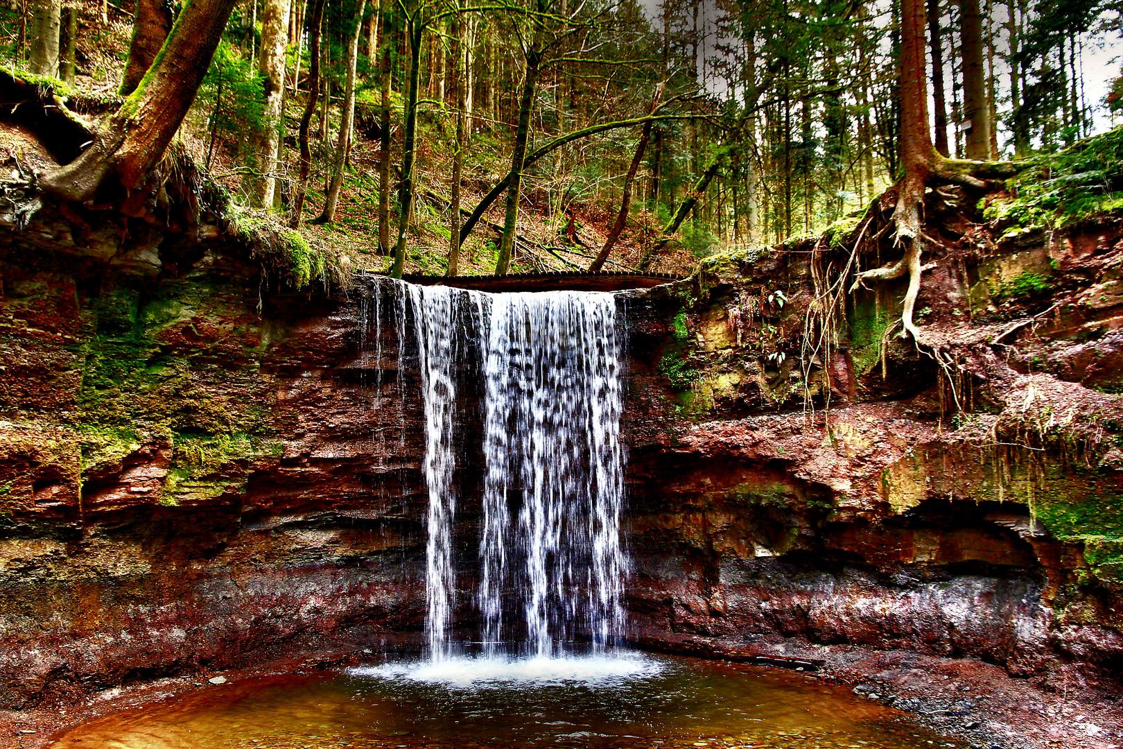 Wasserfall im Hörschbachtal bei Murrhardt