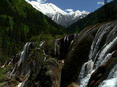 Wasserfall im Jiuzhaigou-Nationalpark.