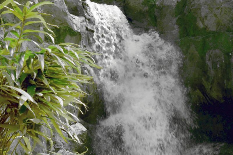 Wasserfall im Legoland