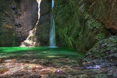 Wasserfall im Socatal (Slowenien)