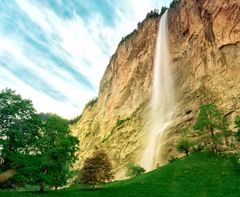 Wasserfall in Lauterbrunnen
