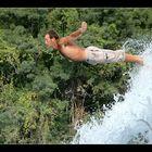 Wasserfall-Springer