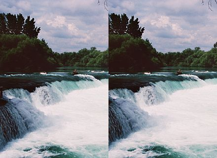 Wasserfall-Stereobild