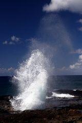 Wasserfontäne am Spouting Horn auf Kauai