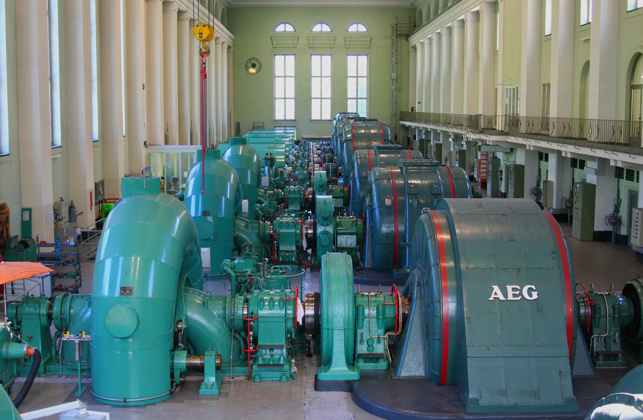 Wasserkraftwerk Walchensee - Maschinenraum