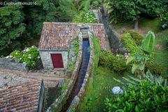 Wassermühle am Ribeira dos Caldeiroes
