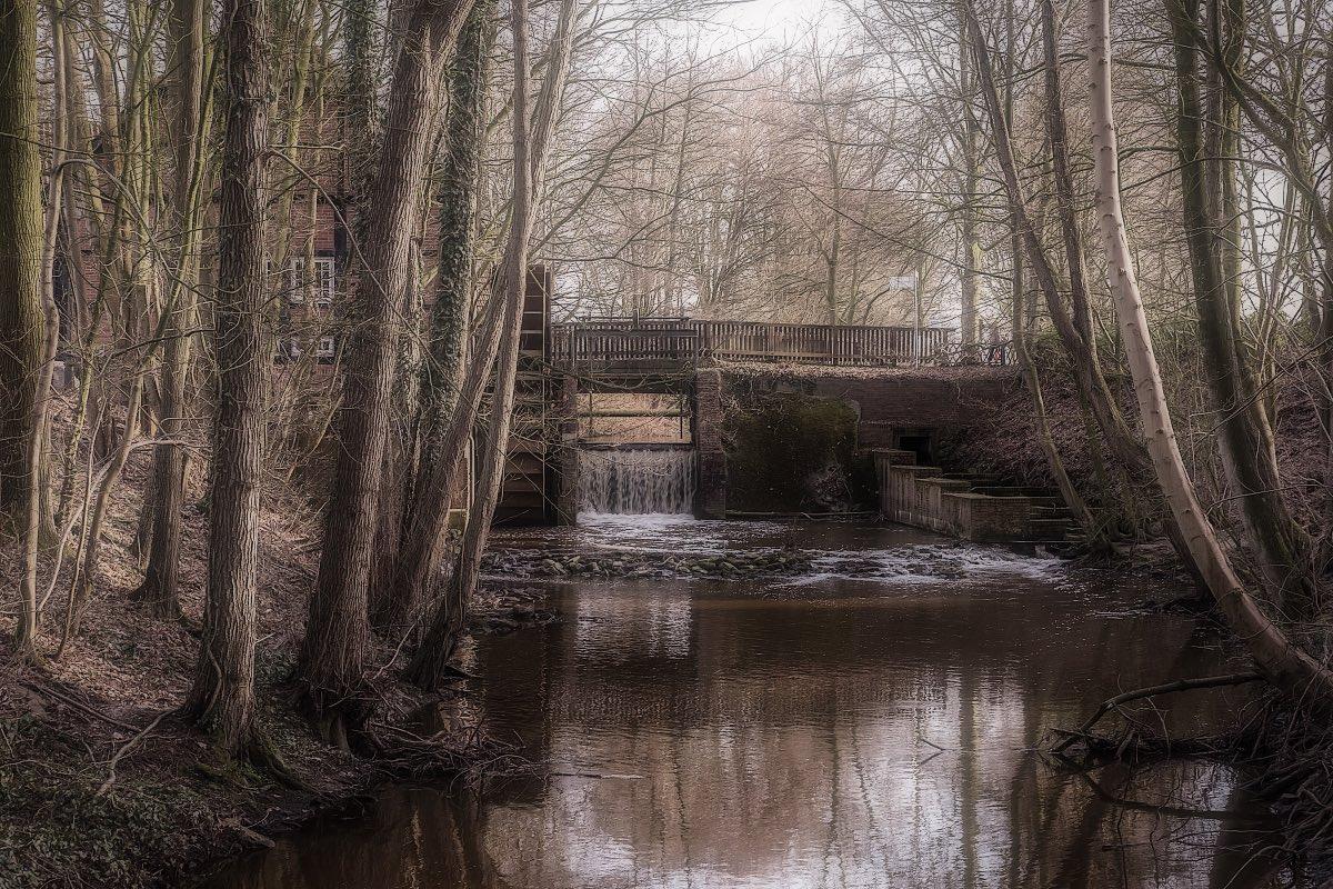 Wassermühle an der Klosterruine in Hude/Oldenburg Foto & Bild ...