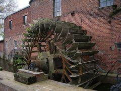 Wasserrad der Mühle Elbeu