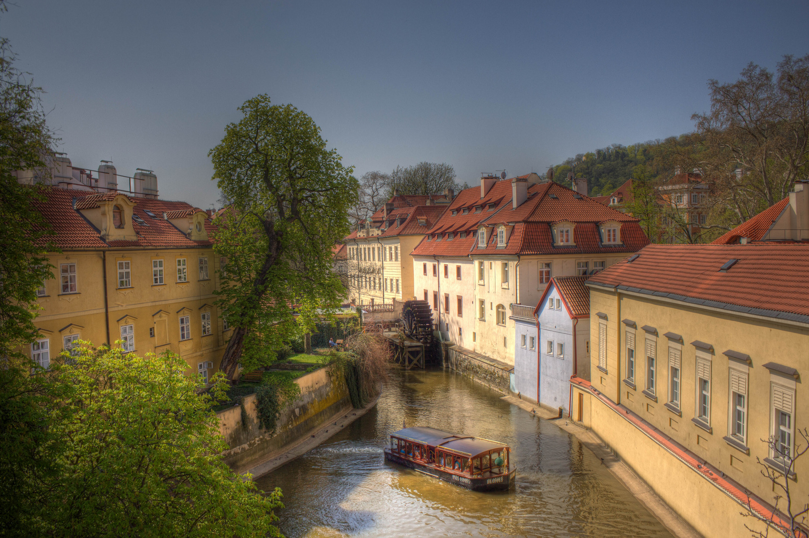 Wasserrad in Prag