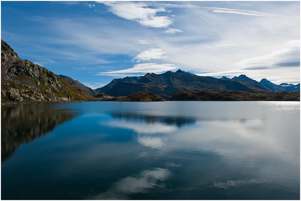 Wasserscheide am Totensee