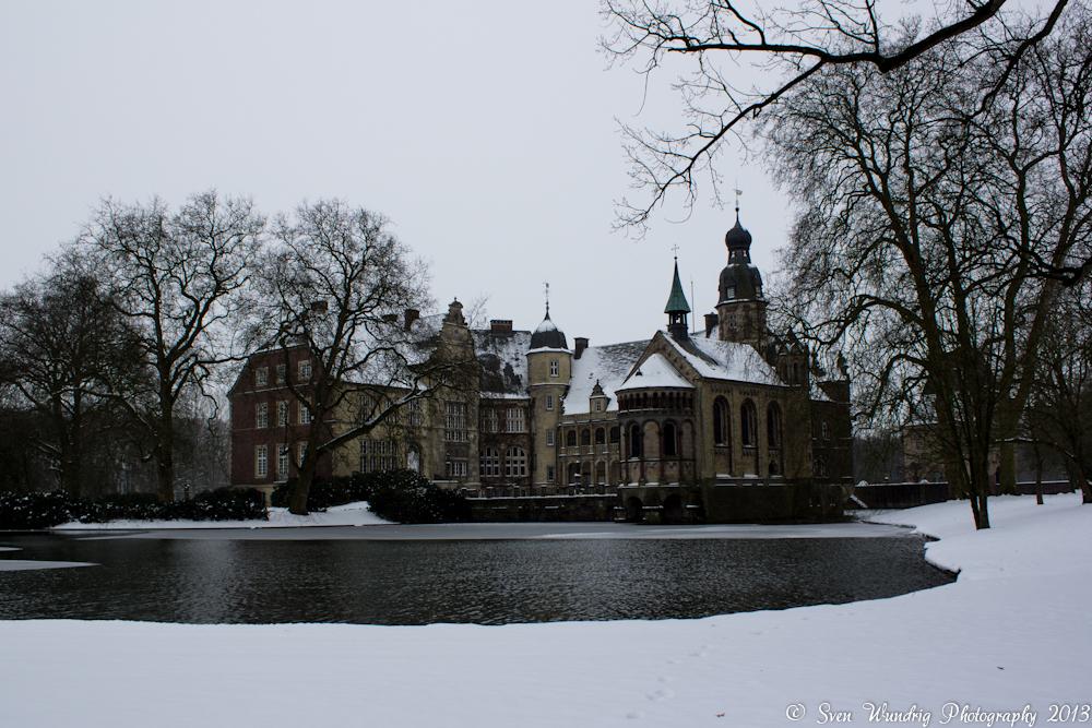 Wasserschloss Darfeld bei Schnee